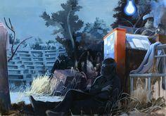 """Tilo Baumgartel, """"After Presentation"""", oil on canvas, 220 x 350cm, 2008"""