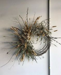 Flora Organica Designs Rosegolden Thatch Floral Aesme Thatch Floral Leuca Floral Heather Page Dried Flower Wreaths, Holiday Wreaths, Dried Flowers, Christmas Decorations, Diy Christmas, Fleurs Diy, Dried Flower Arrangements, Wreath Forms, Diy Wreath