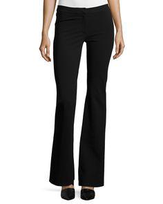 Alana Flare-Leg Pants, Black, Size: 38 IT (2 US) - Derek Lam