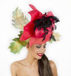 Poppy Ascot Hat www.hatsonheads.com