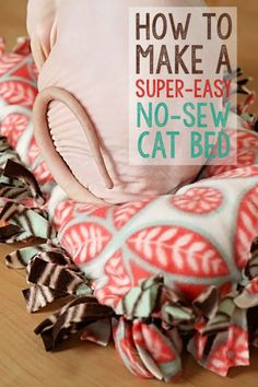 How To Make A Super-Easy No-Sew Cat Bed in 30 minutes or less!! #DIY