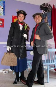 coolest homemade mary poppins couple costume - Superbad Halloween Costumes