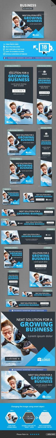 Business Banners Template PSD. Download here: http://graphicriver.net/item/business-banners/15995838?ref=ksioks