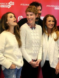 """Sundance red carpet: Keri Russell, left, director Jerusha Hess and Jane Seymour before the premiere of """"Austenland."""" (Leah Hogsten     The Salt Lake Tribune) Thank you Jerusha for your enthusiasm and generosity. I want to be like you when I grow up."""