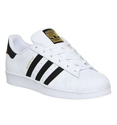 Buy White Black Foundation Adidas Superstar GS from OFFICE.co.uk.
