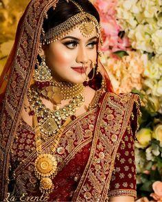 bridal sets & bridesmaid jewelry sets – a complete bridal look Pakistani Bridal Makeup, Pakistani Wedding Outfits, Indian Bridal Outfits, Indian Bridal Fashion, Bridal Lehenga, Bridal Makeup Looks, Bridal Looks, Bridal Style, Mehndi