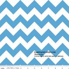 18 X 20 LAMINATED fabric  Medium Blue Chevron aka by Laminates, $4.50  https://www.etsy.com/listing/155009085/18-x-20-laminated-fabric-medium-blue?ref=shop_home_active_5