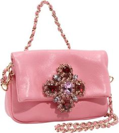 Juicy Couture Luxe Rocks Leather Scarlett Shoulder/Clutch Pink - Juicy Couture Designer Handbags $198.00