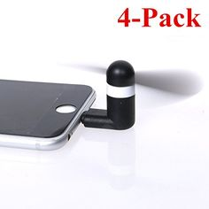 Mini iPhone Fan  4 Pack  Asstar Mini Portable Dock Cool Cooler Rotating Fan with Two Leaves for iPhone 6 6s 6 5s 5 iPad New iPad iPod Touch Black >>> See this great product.