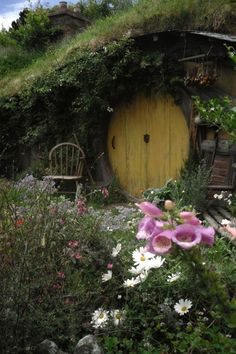 A cute little hobbit home...maybe the exit from my basement in my dream home?