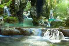 Waterfalls, nydri , lefkas Greece Photography, Greek Beauty, Outdoor Spa, Nature Water, Greek Islands, Adventure Travel, The Good Place, Waterfall, Places To Visit