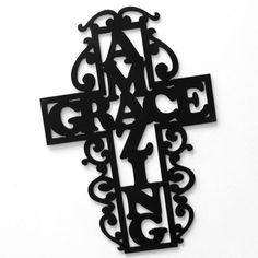 Hey, I found this really awesome Etsy listing at http://www.etsy.com/listing/112546154/amazing-grace-decorative-metal-cross