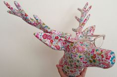 Check out what some really tallented bloggers have done with our blank papier mache stag heads. Some great ideas with links to how each of them has been decorated.