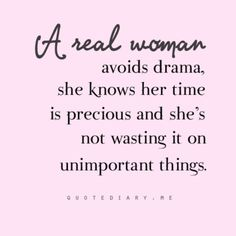 A Real Woman…
