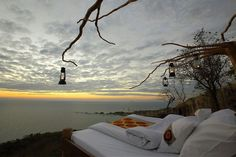 Lake of Stars' Bed at Nkwichi Lodge, Mozambique