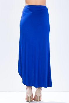 Асимметрическая юбка Размеры: M, L Цвет: ярко-синий, черный Цена: 986 руб.  #одежда #женщинам #юбки #коопт