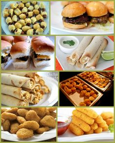 finger food menu for party luau-party