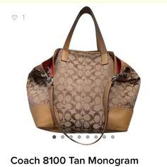 Coach Monogram Messenger Bag Coach Tan Monogram Messenger Bag Coach Bags Shoulder Bags