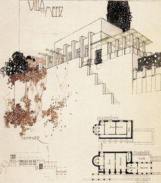 Wunibald Deininger (Austrian, 1879-1963), Villa am Meer,Der Architekt, XII, 1906.