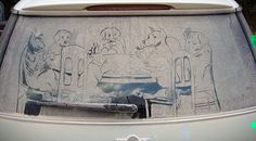 Here's a great example of Dirty Car Art by Scott Wade. Please Like,Pin,or Comment. Thanks.  http://j.gs/100549/cars