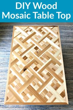 Woodworking Projects Wine Rack Heres how I built a beautiful DIY Wood Mosaic Ta Woodworking Projects For Kids, Woodworking Workshop, Diy Wood Projects, Mosaic Projects, Art Projects, Woodworking Tutorials, Diy Table Top, A Table, Diy Wood Table