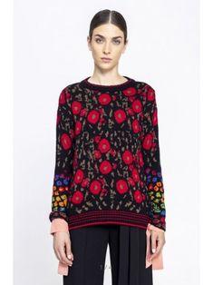 Купить пуловер IVKO с цветочным дизайном
