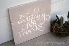 DIY Double Sided Holiday Sign made with the Silhouette from Grey Luster Girl #Halloween #Thanksgiving #Fall