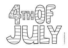 Happy July 4 Coloring Pages Independence Day For Kids Printable Free