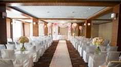 lovely room for an indoor ceremony Indoor Ceremony, Wedding Ceremony, Party Stuff, Granite, Boston, Two By Two, Wedding Ideas, Club, Table Decorations