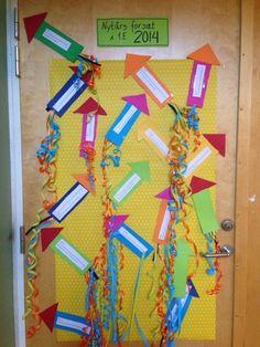 Hver elev laver en nytårsraket, hvor i de skriver deres nytårsforsæt. Nytårsforsættene gennemgåes fælles i klassen og skal have noget med sk...