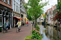 The city of Delft is a beautiful canal city, home to the Royal Delft blue tiles.