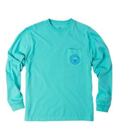 NWT Southern Shirt Company tee NWOT, bought the wrong size. The color is 'Blue Turquoise. Preppy Brands, Southern Shirt Company, Preppy Outfits, Preppy Clothes, Floral Logo, Long Sleeve Tees, Turquoise, Mens Tops, Fashion Design