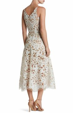 Main Image - Dress the Population Blair Embellished Fit & Flare Dress White Midi Dress, Lace Dress, Fit Flare Dress, Fit And Flare, Date Dresses, Midi Dresses, Dress The Population, Nordstrom Dresses, Sequins