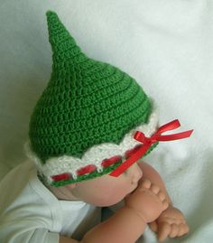 Hand Crochet Green Holiday Fairy/Elf/Pixie by DollBabiesReborns, $14.99