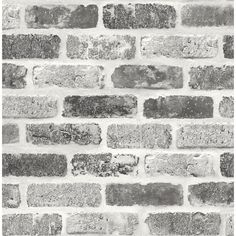 Bring the look of exposed bricks to your interior space without the mess or cost with this Grey Washed Faux Brick peel and stick wallpaper from NextWall. Printed on smooth vinyl, our peel and stick designs are perfect for renters and homeowners looki