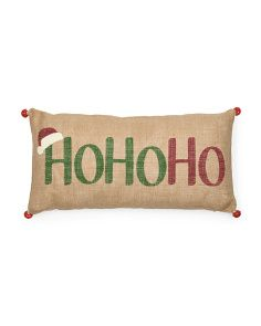 image of 12x24 Hohoho Pillow With Bells