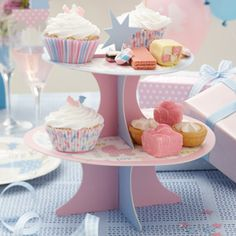 This cute cake stand is a must for presenting baby shower cupcakes or sweet treats for the guests to enjoy.  It also makes a great centre piece £8.99 from the Fuschia Boutique at www.fuschiadesigns.co.uk.