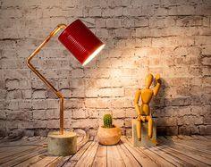 Wood lamp table lamps lamps lighting desk lamps от EunaDesigns