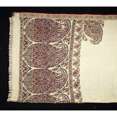 Shawl with Boteh Motif Date: early 19th century (made) Place: Kashmir Artist/maker: Unknown