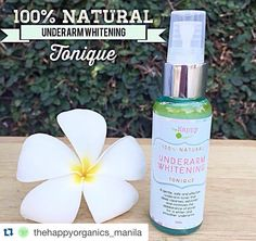 100% NATURAL UNDERARM WHITENING TONIQUE  A gentle safe and effective underarm tonique that deep cleanses exfoliates and minimizes the appearance of pores for a whiter and smoother underarms. Best paired with our Organic Premium Deodorant and Undearm Whitening Cream for accelerated results and absorption of actives.  How to use: Use day and night after cleansing. Spray on cotton ball and apply generously to underarms. Let dry before applying Premium deo or UA cream.  Natural Ingredients…