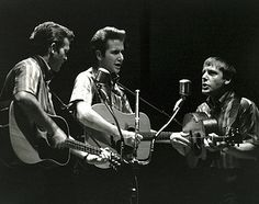 The Kingston Trio at Royce Hall, UCLA (1962). Bob Shane, John Stewart and Nick Reynolds.