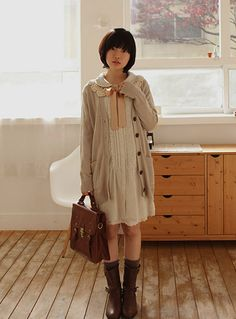 12 Cute Mori Girl Outfits and Style tips for Mori Girl Look Moda Harajuku, Harajuku Mode, Harajuku Girls, Harajuku Fashion, Kawaii Fashion, Girl Outfits, Cute Outfits, Fashion Outfits, Fashion Styles