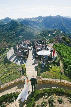 Stunning Ceremony on a Malibu Mountaintop
