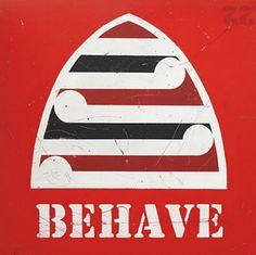 Mike Weston and Otis Frizzell's Behave print for sale in the black colourway. Zealand Tattoo, New Zealand Art, Maori Art, Kiwiana, Wall Art For Sale, Print Store, Beach Art, Graffiti Art, Art Reproductions