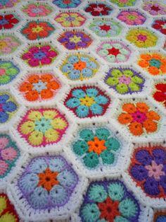 crochet colorful bright african flower newborn by handmadebyria