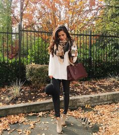The Sweetest Thing - Ivory sweater, faux leather leggings and booties