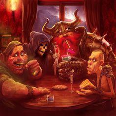 The four riders... Discworld by *MarcSimonetti on deviantART