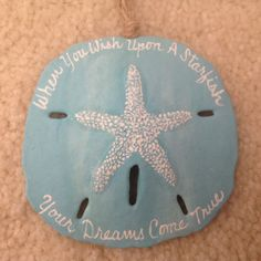 Wish on a Starfish Hand Painted Sand Dollar Beach Ornaments