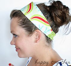 Doublesided Headband by ohsohappytogether, via Flickr