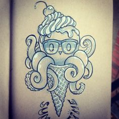 Image result for cute octopus tattoo